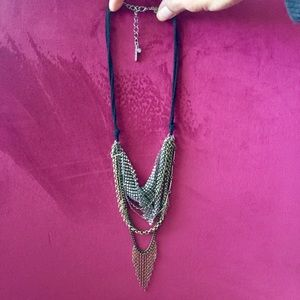Steve Madden statement chain silver gold necklace